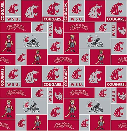 Craft Pro Hat - Sykel Enterprises 0317748 Collegiate Fleece Washington State University Fabric by the Yard, Crimson