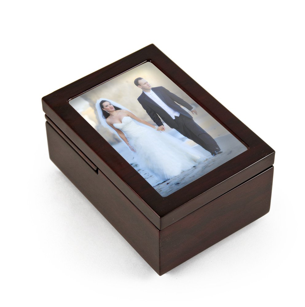 CDM product Ultra Modern 22 Note Fold - Many Songs Available - Up 6 x 4 Photo Frame Musical Jewelry Box Wedding March 1 Available big image