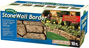 BestNest Gardeneer Stonewall Faux Stone Border Edges, Tan, Pack of 4