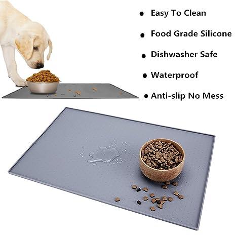 Alfombrilla de alimentación para perros y gatos Yoyoung, de silicona de grado alimenticio aprobada por