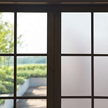Amazoncom Roll Privacy Window Film Frosted Window Film AntiUV - Window clings for home privacy