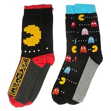 Pacman y1h417 Pacman hombres de calcetines (tamaño 6 - 11, pack de 2): Amazon.es: Juguetes y juegos