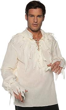 Horror-Shop Jirones la Camisa Pirata Crema One Size: Amazon.es: Juguetes y juegos