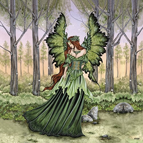 Fairy Fridge Magnets (Tree-Free Greetings Refrigerator Magnet, 3.5x3.5 Inches, Lady of the Forest Fairy by Amy Brown (60558))