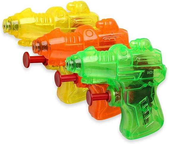 Schramm® Pistola de Agua de 48 Piezas Pistola de Agua Mini Space de 7 cm Pistola de Agua Pistola de Agua: Amazon.es: Juguetes y juegos