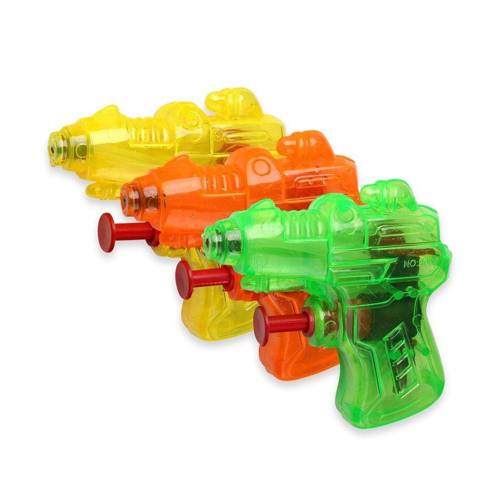 Schramm 12er Pack Wasserpistole Mini Space Wasserpistolen Wasser Pistole Water Gun Watergun