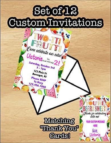 Amazon Set Of 12 Twotti Frutti Birthday Invitation Tutti