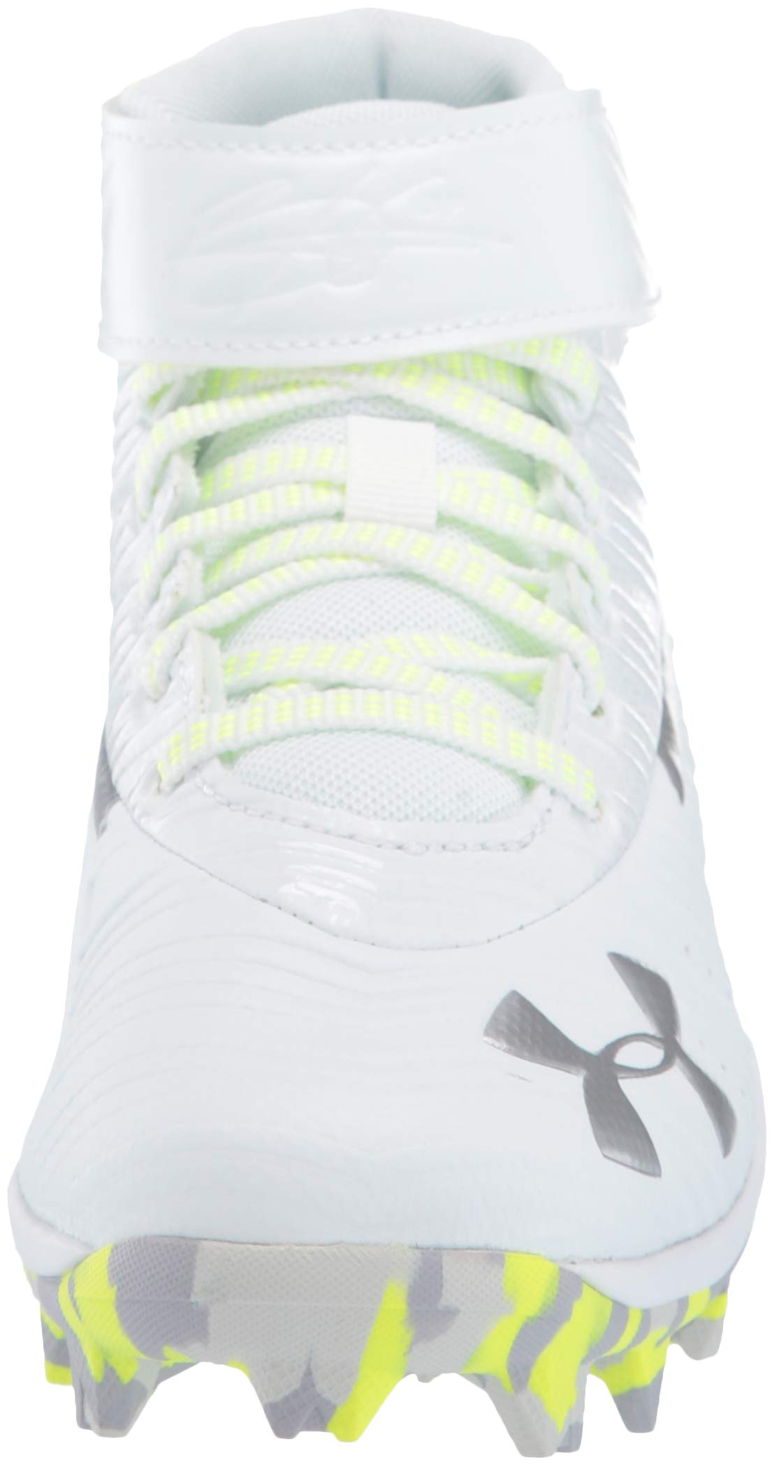Under Armour Boys' Harper 3 Mid Jr. RM Baseball Shoe 100/White, 1 by Under Armour (Image #4)