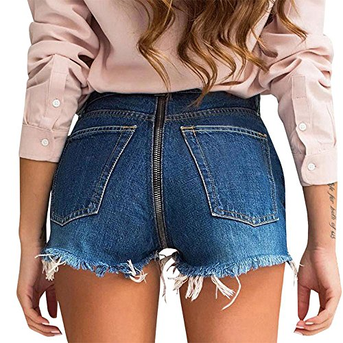 Buco Rotto Navy Shorts Denim Moda Pants Hot Blu Quotidiani Donne Pantaloni Estivo Pantaloncini xq6wpCwU