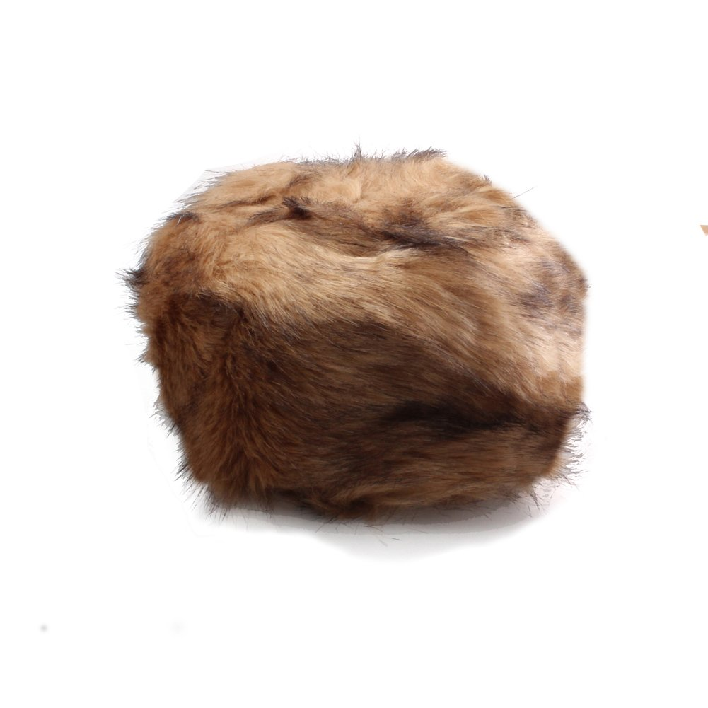 Women's Luxurious Brown Faux Fur Cossack Style Russian Hat