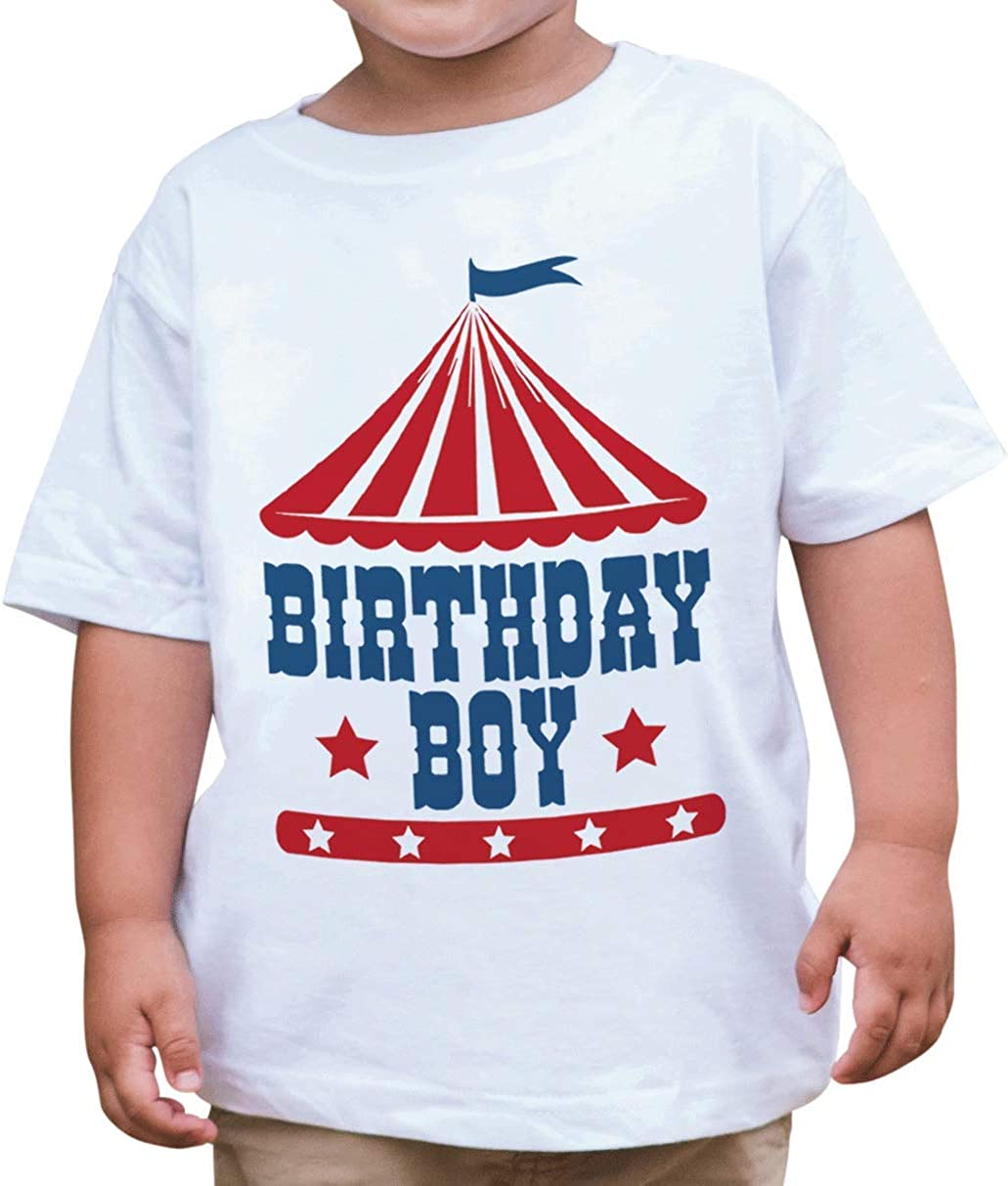 7 ate 9 Apparel Boy's Birthday Circus T-Shirt