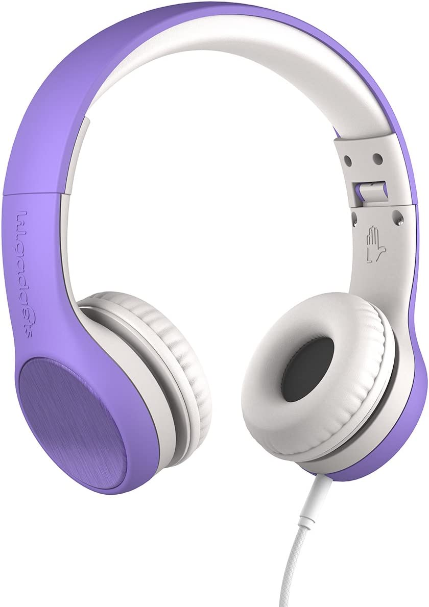 New! LilGadgets Connect+ Style Kids Premium Volume Limited Wired Headphones with SharePort (Children, Toddlers) - Purple