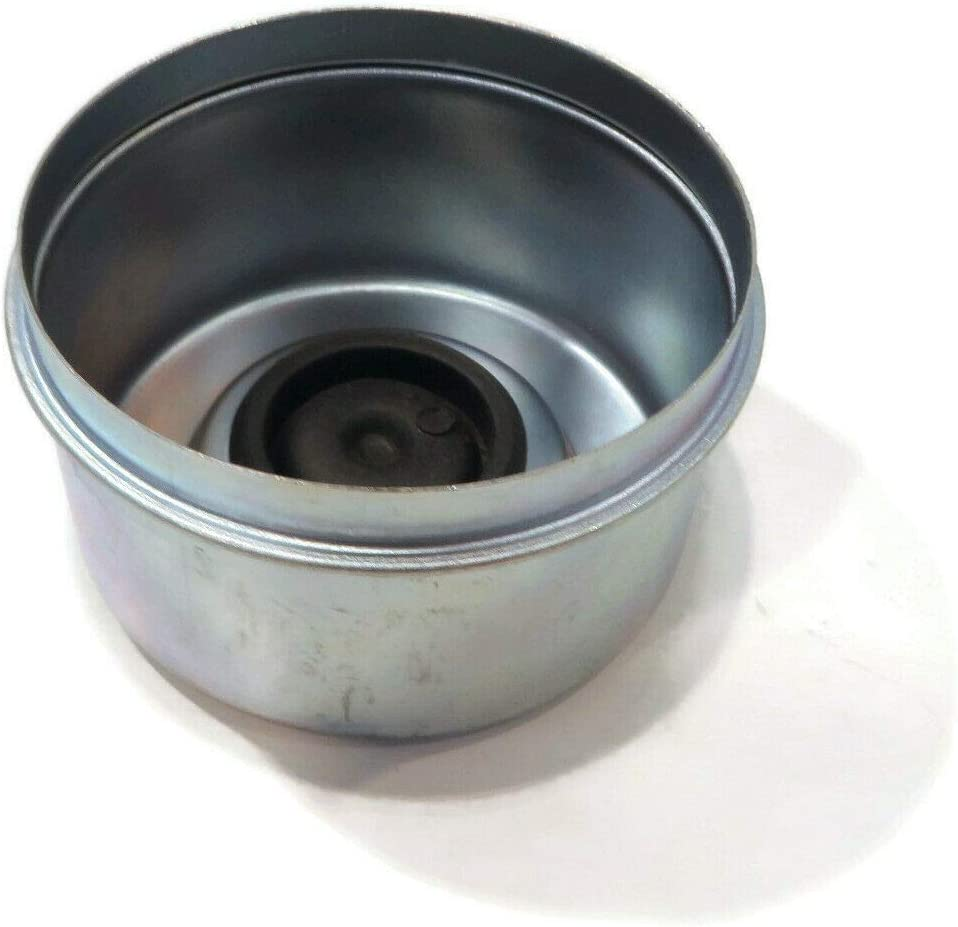 2.72 Diameter The ROP Shop Metal Grease Cap Trailer Axles with Rubber Plug for 8 Lug Hub