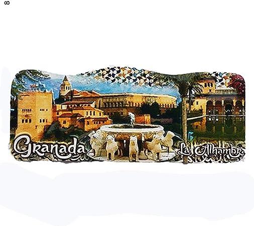 MUYU Magnet Imán para Nevera con diseño de Granada España en 3D, colección de Regalo de Recuerdo para el hogar y la Cocina, Pizarra Blanca magnética: Amazon.es: Hogar