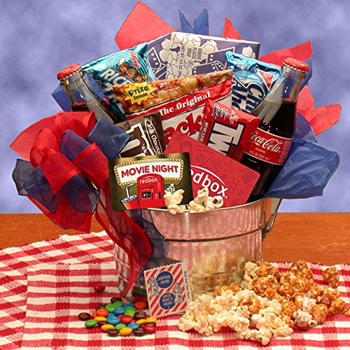 Blockbuster Night Movie Pail - with 10.00 Redbox Gift Card