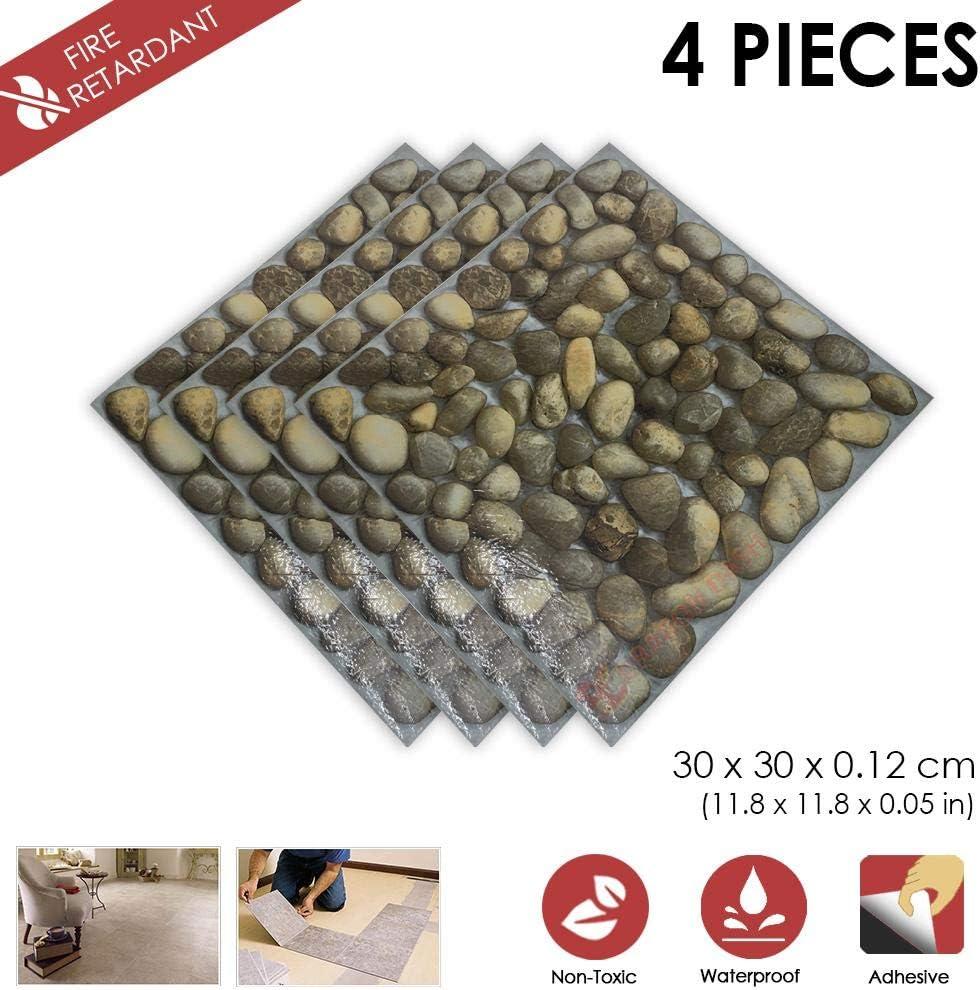 4 Stucke Schalen und Kleben 30 x 30 x 0.1 cm Heimtextilien A HOLZ Design PVC Bodenbelag Fliesen Selbstklebend Vinyl-Fliesen 1175