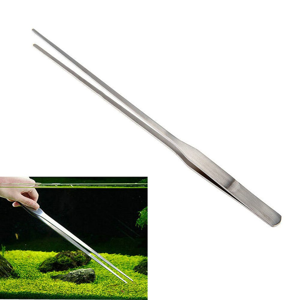 BinaryABC Aquarium Tweezers,Stainless Steel Feeding Straight Tweezer 27cm