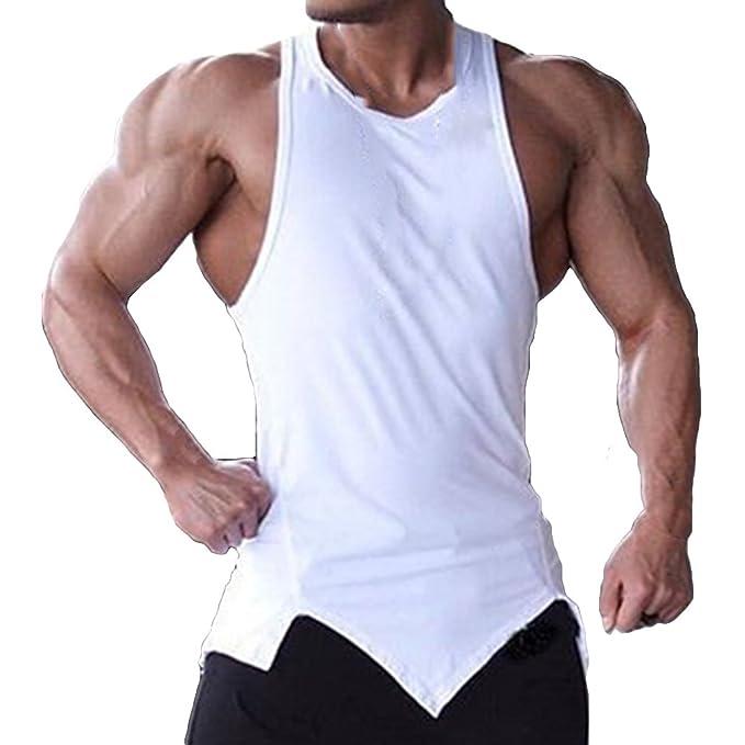WEIMEITE sin Mangas para Hombre Tank Tops sólidos del Verano Tops gimnasios Ropa Bodybuilding Camiseta sin Mangas Fitness Tank Tops: Amazon.es: Ropa y ...