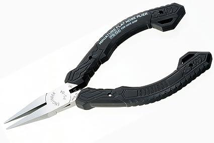 Alicates de punta larga plana de precisión (soporte de mandíbula), Pro, fabricado