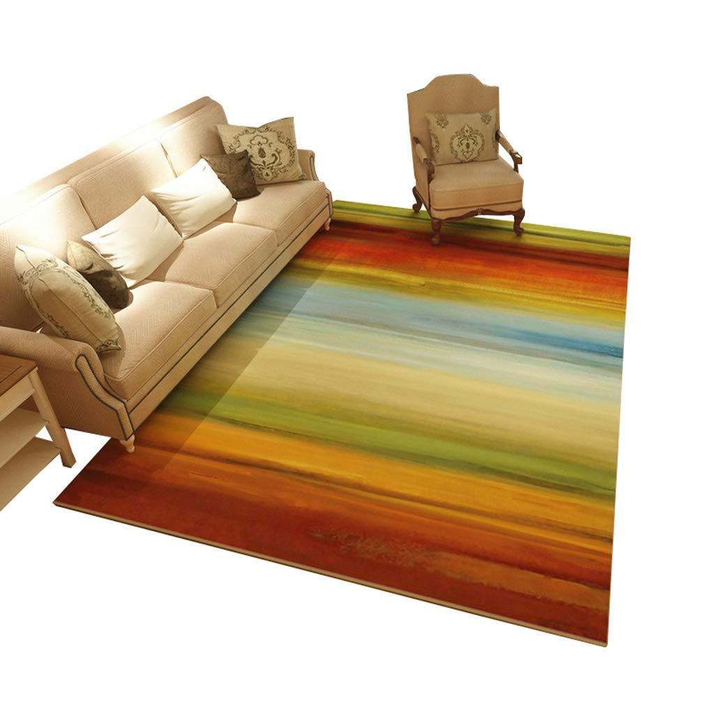 現代のミニマリストスタイルのリビングルームのソファーのコーヒーテーブルの敷物クリエイティブ北欧の寝室のベッドサイドの長方形のカーペット200×300 cm (サイズ さいず : 200×300cm) 200×300cm  B07Q1BVL4T