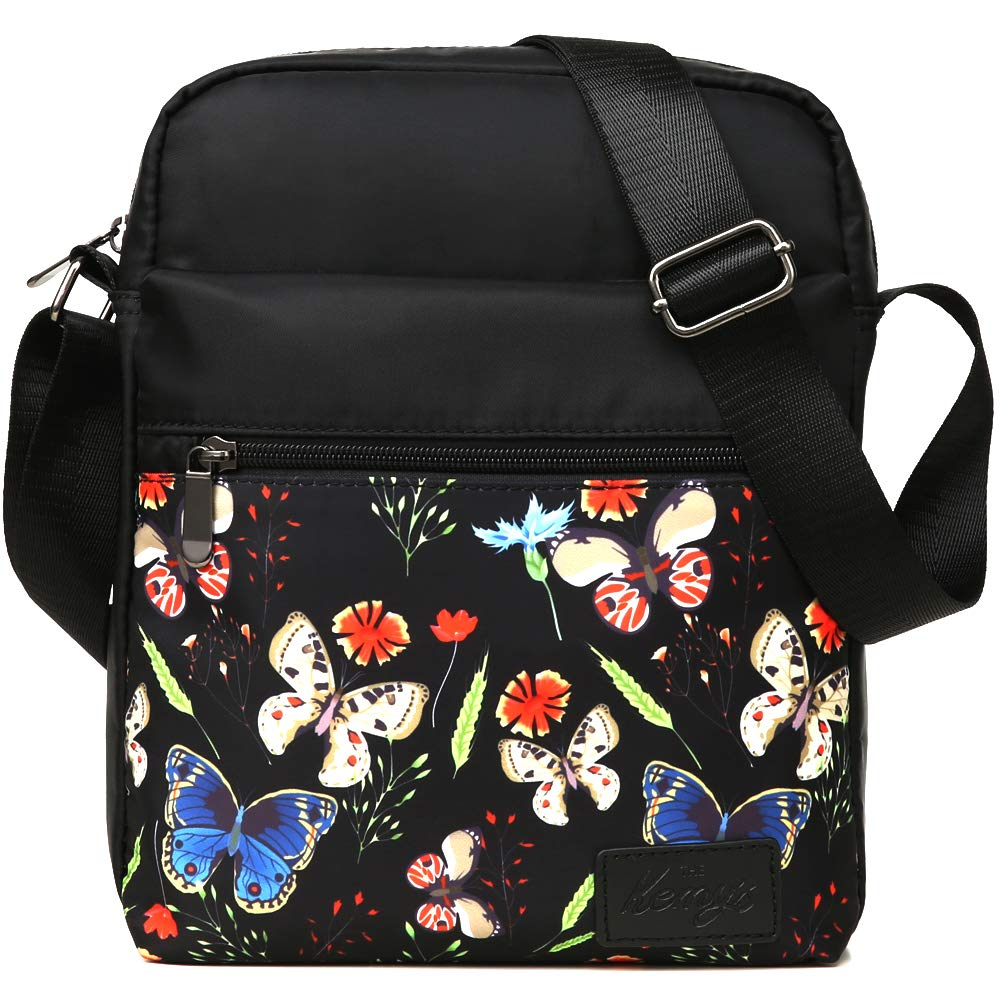 Kemys Girls Crossbody Purse for Teen Girls Floral Purses Crossover Small Canvas Messenger Bag Tween Preteeen Little Over Shoulder Body Bags Easter Gifts
