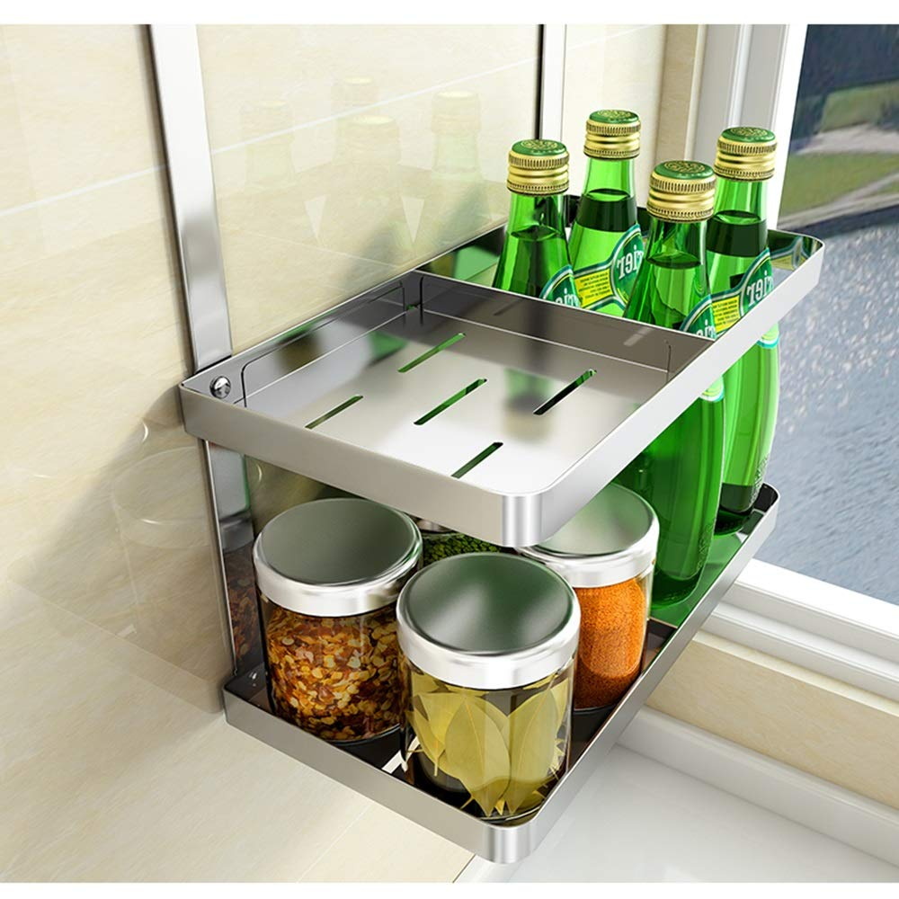 HUO 304 Stainless Steel Kitchen Rack Wall-Mounted Tool Cutting Board Kitchen Knife Storage Supplies Knife Holder (Size : B) by Kitchen shelf (Image #4)