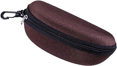 DaoRier 1pcs Funda Rígida Gafas, 17 * 8 * 6 cm Estuche Ligero con Cremallera para Cinturón Bolso Mochila Coche para Guardar Gafas de Ver Lectura Natación Grandes Pequeñas Hombre Mujer Niño:
