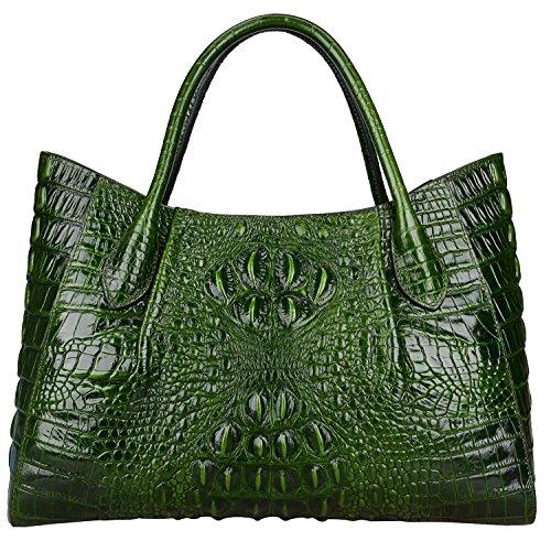- PIJUSHI Women Handbags Crocodile Top Handle Bag Designer Satchel Bags For Women (22198 Green)