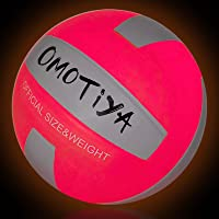 OMOTIYA Light Up Volleyball, Glow in The Dark, Much Brighter, Great Volleyball Gift for Boys, Official Size and Weight…