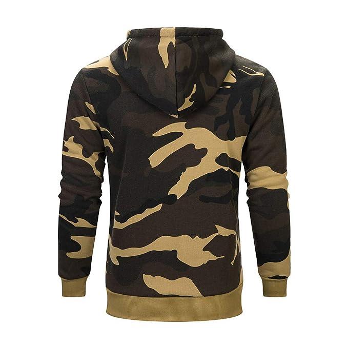 519c54c7e3ad Geili Herren Sweatjacke Kapuzenpullover Camouflage Sweat Jacke Kapuzenjacke  Hoodie Herbst Winter Warmer Fleece-Innenseite Sweatshirt Jacken Sportjacke  ...