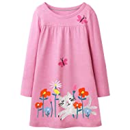 Fiream Girls Cotton Long Sleeve Dress
