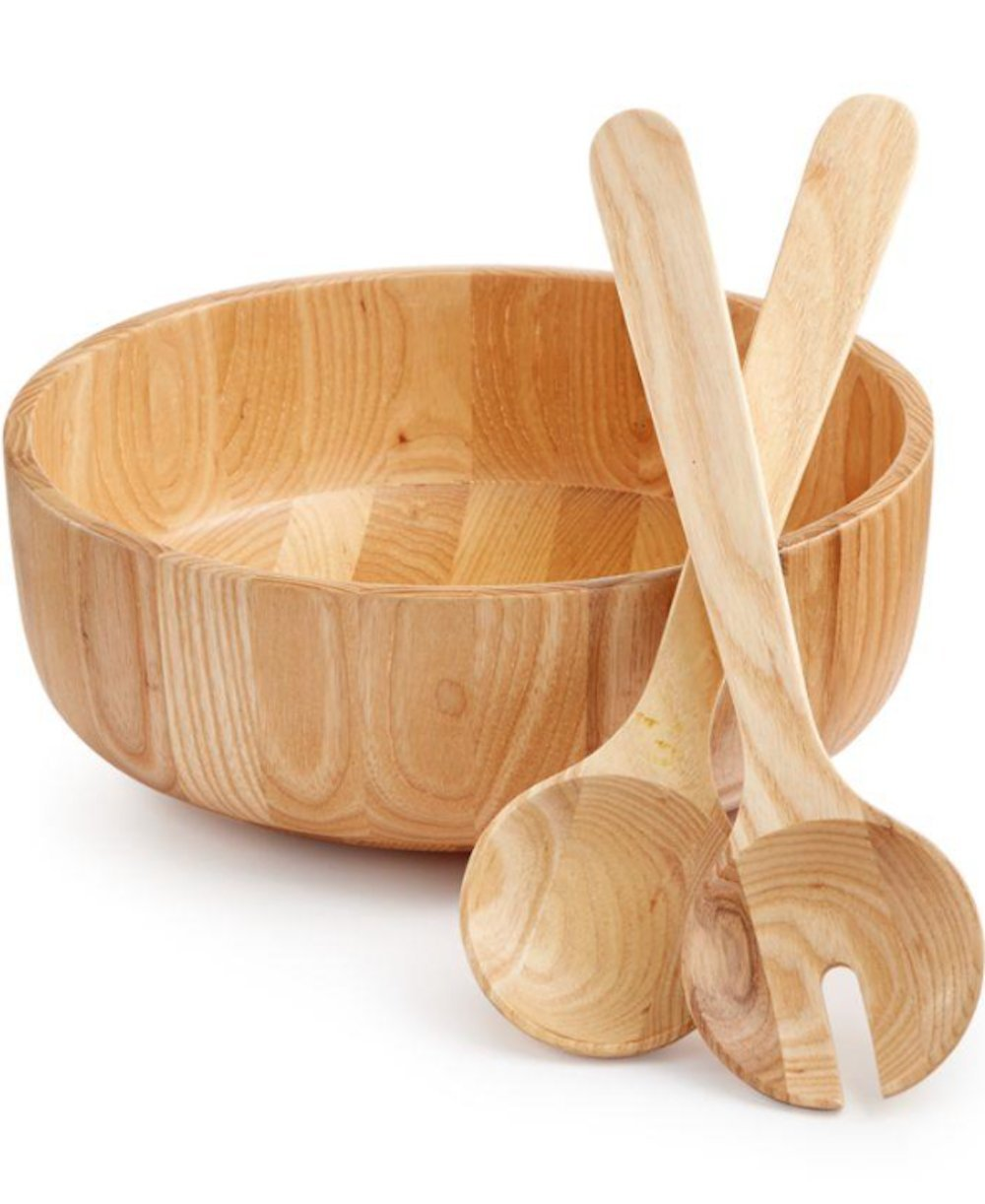 HOTEL COLLECTION WOOD SALAD SET