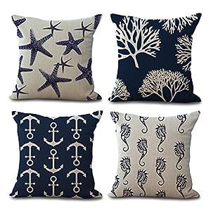 61X8BjxeZaL._SS300_ 100+ Nautical Pillows & Nautical Pillow Covers