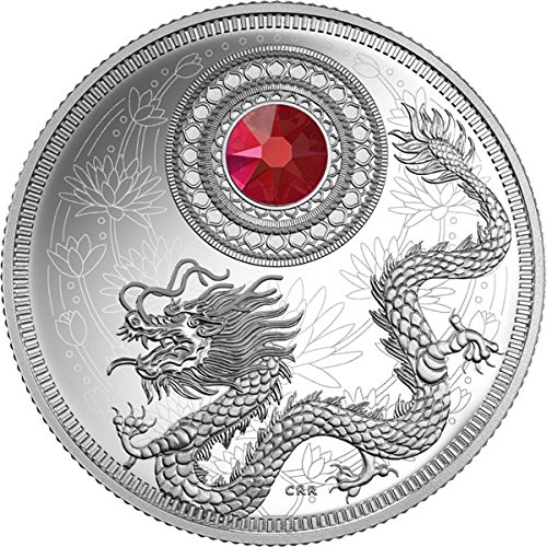 2016 CA Birthstones March Crystalized Proof $5 Silver Coin (mintage:3000) $5 Mint State MS