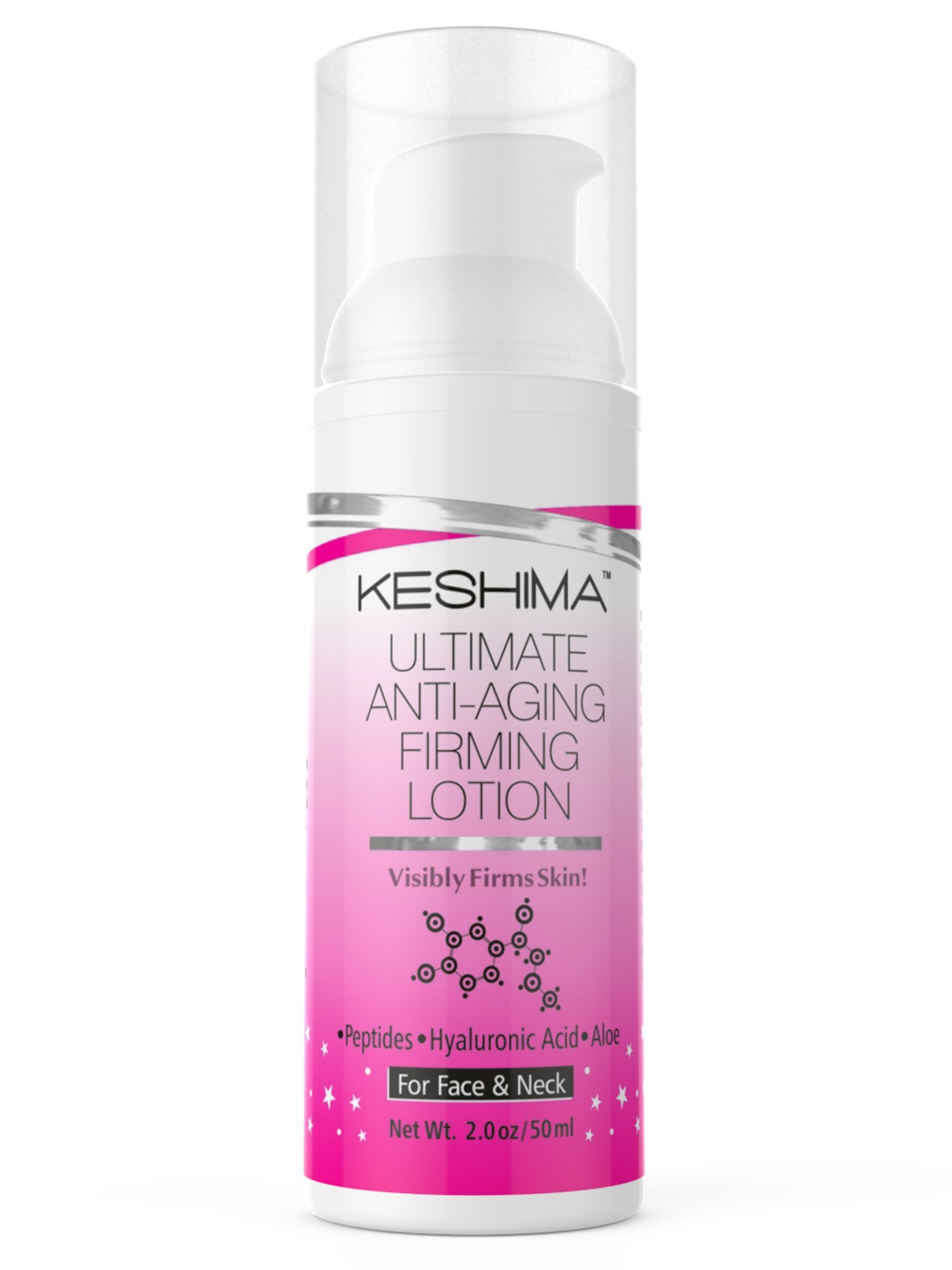 Face & Neck Firming Cream - Lotion Tightens Loose and Sagging Skin - Smooths Wrinkles and Fine Lines - 2 Oz. by KESHIMA (Image #2)
