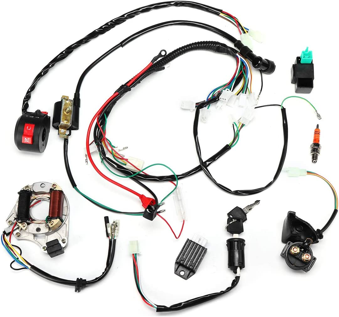 wiring harness kit for atv amazon com hitommy 50cc 70cc 90cc 110cc ignition wiring harness  hitommy 50cc 70cc 90cc 110cc ignition