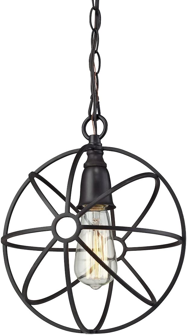 Elk Lighting 14241 1 Ceiling-Pendant-fixtures, Bronze