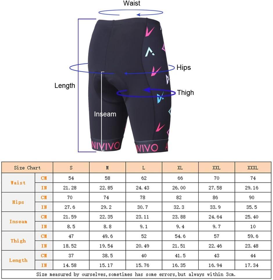 Pantaloncini da Ciclismo da Donna con Imbottitura 3D Gel BEROY Pantaloncini da Ciclismo da Donna