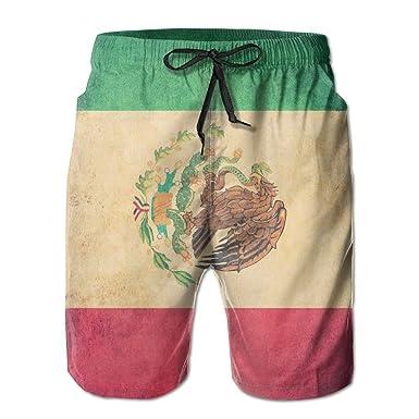 bc2e8fa030 BANGBIG Men Mexican Flag Summer Breathable Quick-Drying Swim Trunks Beach  Shorts Cargo Shorts Medium