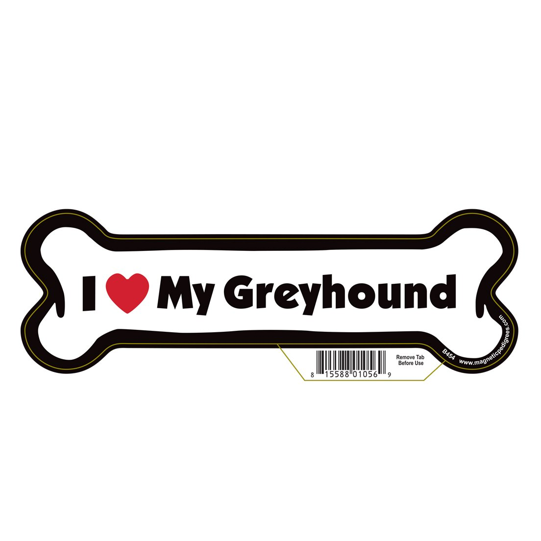 Greyhound Dog Bone Magnet