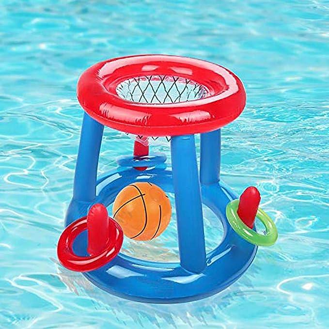 Smilikee - Canasta de Baloncesto para Piscina, Hinchable y ...