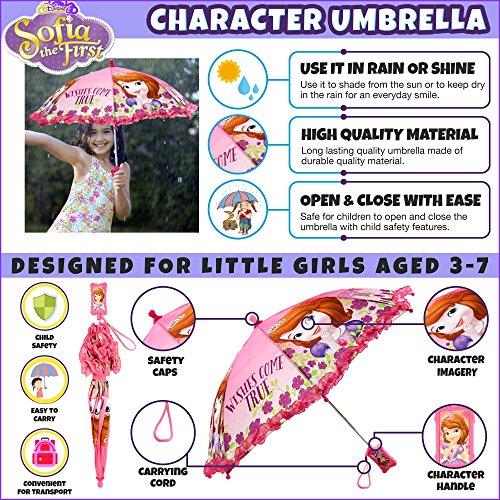 Disney Girls' Little Sofia The First Character Rainwear Umbrella, Pink, Age 3-7 by Disney (Image #2)