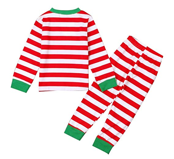 Amazon.com  Dutebare Boys Christmas Pajamas Toddler Clothes Set Cotton Kids  Stripe PJS Sleepwear  Clothing 7aec999ac