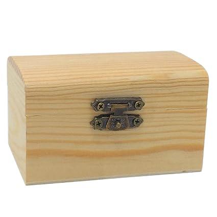 Todo meneje al mayor Caja de Madera Pequeña Rectángulo Redondeado 9 X 5.5 X 5 CM