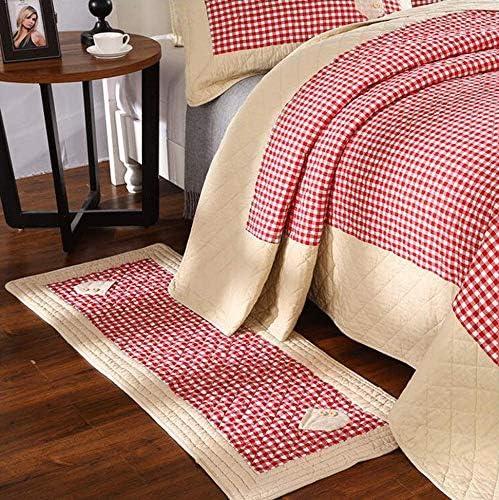 Alfombra acolchada moderna encantadora alfombra de algodón lavable ...