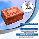 Pet Memory Shop Urn for Pets - Hand-Carved Rosewood Urn - Classic Wooden Series for Dogs, Cats, and Animals