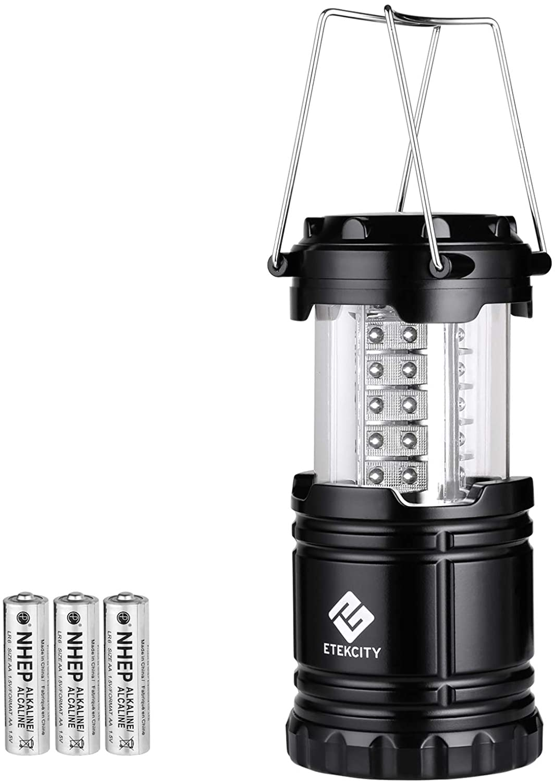 1:6th Scale Light Up B//O Camping Light Black Coleman