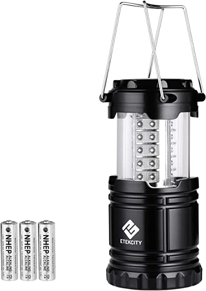 Amazon Com Etekcity Lantern Camping Lantern Battery Powered Lights For Power Outages Home Emergency Camping Hiking Hurricane A Must Have Camping Accessories Portable Lightweight Batteries Included Sports Outdoors