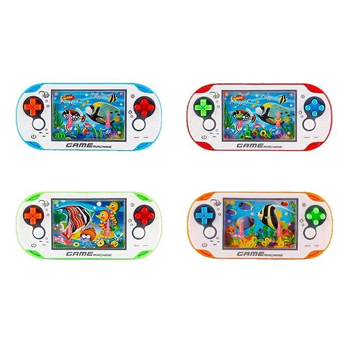 Retro Spielkonsole Klassische Kreisen Spielmaschine Wasserring-Maschine Spielekonsole F/ür Kinder Geschenk Bestes /Mini Handheld Spielkonsole Zuf/ällige Farbe