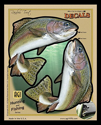 Bones Outdoors BOD2497 UV and Weather Resistant Rainbow Trout Decal, 2-Pack Hardware Trout
